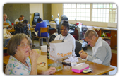 Includid residents busy with Paper and Bead projects